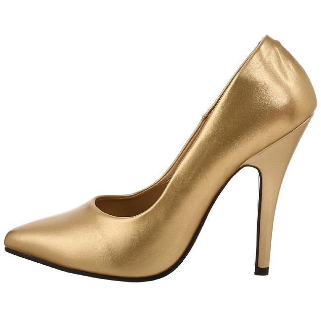 pleaser SEDUCE-420 gouden heren pumps voor mannen maat 42 - 43